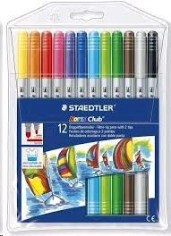 ROTULADORS STAEDTLER DOBLE PUNTA 12 COLORES