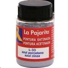 PINTURA PAJARITA AZUL PORCELANA L-33