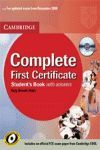 COMPLETE FIRST CERT SB + CD