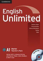 ENGLISH UNLIMITED STARTER TEACHER'S PACK (TEACHER'S BOOK WITH DVD-ROM)