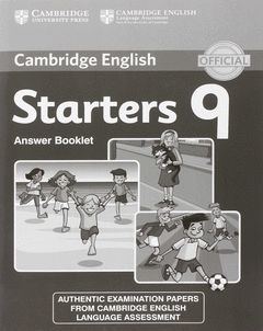 CAMBRIDGE ENGLISH YOUNG LEARNERS STARTERS 9 ANSWER BOOKLET