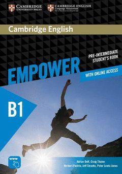 CAMBRIDGE ENGLISH EMPOWER PRE-INTERMEDIATE. STUDENT + ONLINE WORKBOOK
