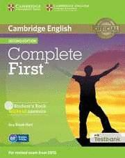 COMPLETE FIRST STUDENT'S BOOK WITHOUT ANSWERS WITH CD-ROM WITH TESTBANK 2ND EDIT