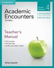 ACADEMIC ENCOUNTERS LEVEL 4 TEACHER'S MANUAL LISTENING AND SPEAKING 2ND EDITION
