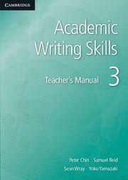 ACADEMIC WRITING SKILLS 3 TEACHER'S MANUAL