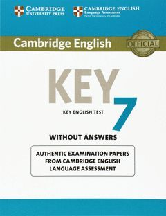 CAMBRIDGE ENGLISH: KEY (KET) 7 STUDENT'S BOOK WITHOUT ANSWERS