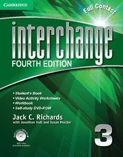 INTERCHANGE LEVEL 3 FULL CONTACT WITH SELF-STUDY DVD-ROM 4TH EDITION