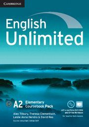 ENGLISH UNLIMITED ELEMENTARY COURSEBOOK WITH E-PORTFOLIO AND ONLINE WORKBOOK PAC