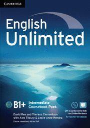 ENGLISH UNLIMITED INTERMEDIATE COURSEBOOK WITH E-PORTFOLIO AND ONLINE WORKBOOK P