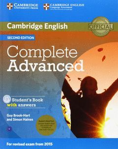 COMPLETE ADVANCED (2ND ED.) STUDENT'S BOOK SELF-STUDY PACK (WITH ANSWERS, CD-ROM