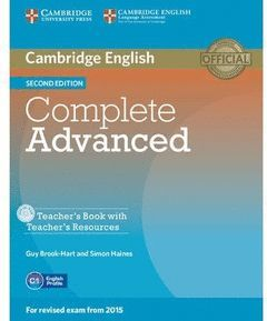 COMPLETE ADVANCED (2ND ED.) TEACHER'S BOOK WITH RESOURCES CD-ROM
