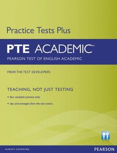 PEARSON TEST OF ENGLISH ACADEMIC PRACTICE TESTS PLUS AND CD-ROM       WI