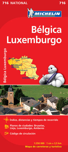 MAPA NATIONAL BELGICA LUXEMBURGO