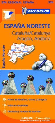 MAPA REGIONAL CATALUÑA,/CATALUNYA, ARAGON, ANDORRA