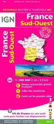 803 FRANCE SUD-OUEST 1:350.000 -IGN