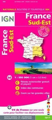 804 FRANCE SUD-EST 1:350.000 -IGN