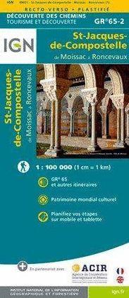 MOISSAC A RONCESVAUX ST-JACQUES-DE-COMPOSTELLE -IGN
