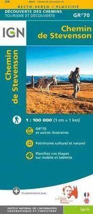 CHEMIN DE STEVENSOM GR 70 1:100.000 -IGN