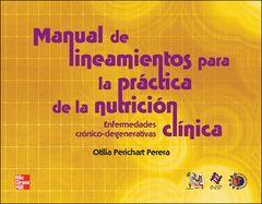 MANUAL DE LINEAMIENTOS PARA PRACTICA DE NUTRICION CLINICA