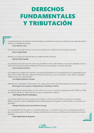 DERECHOS FUNDAMENTALES Y TRIBUTACIÓN. MONOGRÁFICO NUEVA FISCALIDAD