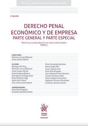 DERECHO PENAL ECONOMICO Y DE EMPRESA. PARTE GENERAL Y PARTE ESPECIAL