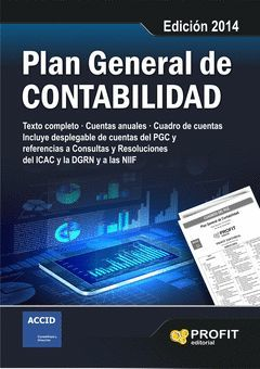 PLAN GENERAL DE CONTABILIDAD. EDICIÓN  2014