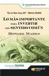 LO MAS IMPORTANTE PARA INVERTIR CON SENTIDO COMUN. PROFIT