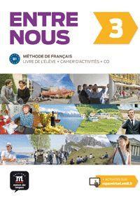 ENTRE NOUS 3 - LIVRE DE L'ÉLÈVE + CAHIER D'EXERCICES + CD