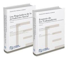 PACK ESTATUTO DE LOS TRABAJADORES COMENTADO + LEY REGULADORA DE LA JURISDICCIÓN