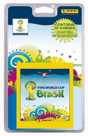 BLISTER 10 SOBRES MUNDIAL 2014 BRASIL