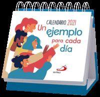CALENDARIO DE MESA UN EJEMPLO PARA CADA D¡A 2021