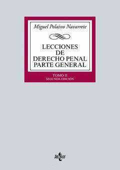 LECCIONES DE DERECHO PENAL. PARTE GENERAL .TOMO II