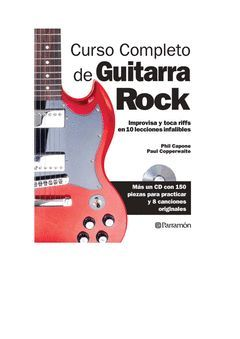 CURSO COMPLETO DE GUITARRA DE ROCK.(INCLUYE CD) PARRAMON-RUST