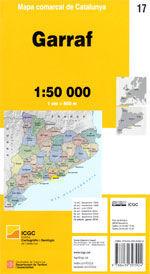 GARRAF - 17 MAPA COMARCAL DE CATALUNYA 1:50.000