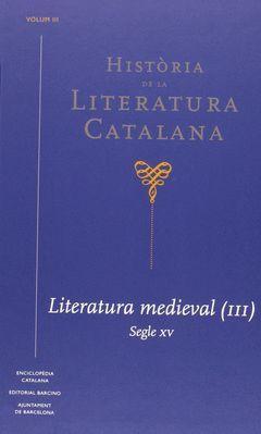 HISTORIA DE LA LITERATURA CATALANA VOL. 3