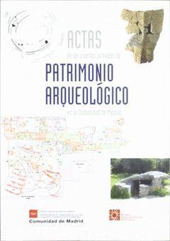 ACTAS DE LAS IV JORNADAS DE PATRIMONIO ARQUEOLÓGICO EN LA COMUNIDAD DE MADRID
