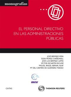 PERSONAL DIRECTIVO EN LAS ADMINISTRACIONES PUBLICAS, EL