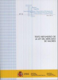 TEXTO REFUNDIDO DE LA LEY DEL MERCADO DE VALORES