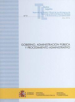 GOBIERNO, ADMINISTRACIÓN PÚBLICA Y PROCEDIMIENTO ADMINISTRATVIO