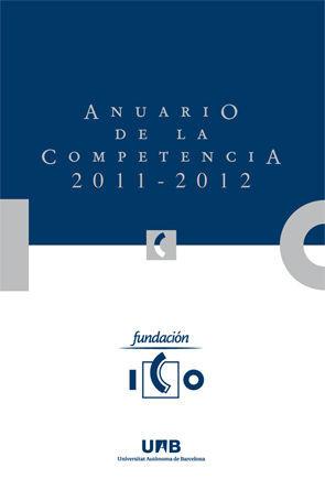 ANUARIO DE LA COMPETENCIA 2011-2012