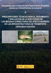 PRESCRIPCIONES TÉCNICAS PARA EL SEGUIMIENTO Y EVALUACIÓN DE LA EFECTIVIDAD DE LA