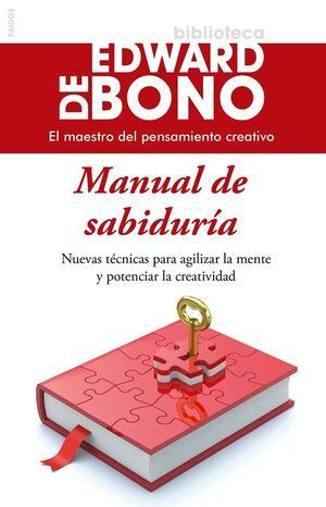 MANUAL DE SABIDURÍA. PAIDOS-BIBL. EDWARD DE BONO