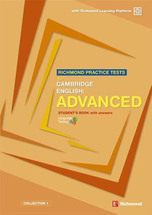 RICHMOND PRACTICE TESTS FOR CAMBRIDGE ENGLISH:ADVANCED