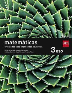 MATEMÁTICAS ORIENTADAS A LAS CIENCIAS APLICADAS. 3 ESO. SAVIA. TRIMESTRES