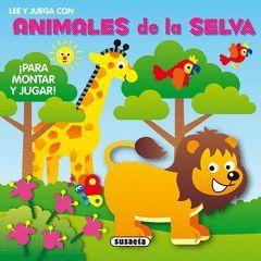 LEE Y JUEGA CON ANIMALES DE LA SELVA