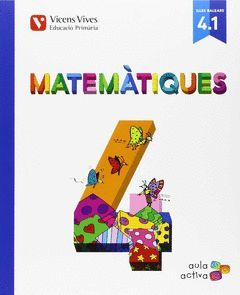 MATEMATIQUES 4º PRIMARIA AULA ACTIVA  LIBRO 1,2 Y 3   ED.15