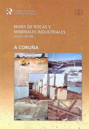 MAPA DE ROCAS Y MINERALES INDUSTRIALES, ESCALA 1
