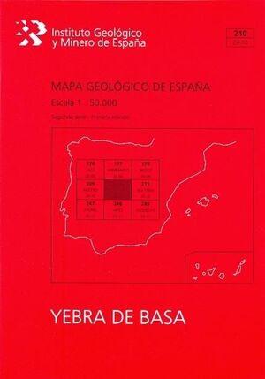 MAPA GEOLÓGICO YEBRA DE BASA Nº 210 (1:50000)