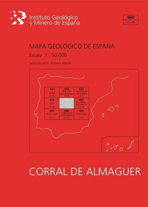 MAPA GEOLÓGICO DE ESPAÑA ESCALA 1:50.000. HOJA 660, CORRAL DE ALMAGUER