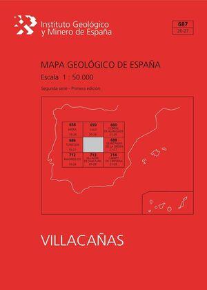 MAPA GEOLÓGICO DE ESPAÑA ESCALA 1:50.000. HOJA 687, VILLACAÑAS
